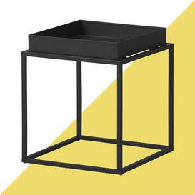 image-Zeus Side Table Hashtag Home Colour: Deep black