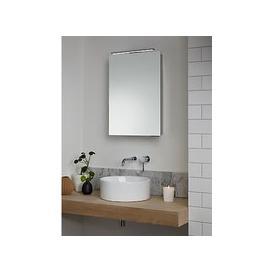 image-John Lewis & Partners Ariel Single Mirrored and Illuminated Bathroom Cabinet