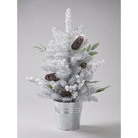 image-Silver Grey And White Berry Table-Top Christmas Tree