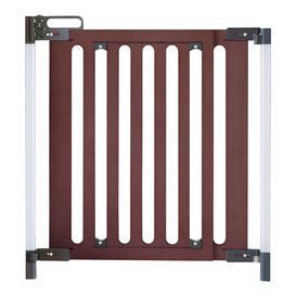 image-Screw Fit Wooden Safety Gate Fred Colour: Dark Oak/Dark Grey