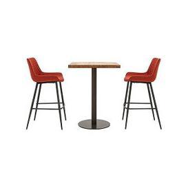 image-Earth Bar Table and 2 Rocket Bar Stools - Red