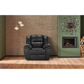 image-Shira Manual Recliner Ebern Designs Upholstery Colour: Black
