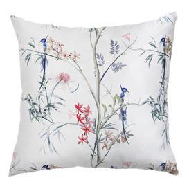 image-Botanical Hummingbird Luxury Silk Cushion Cover (Large)