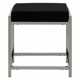 image-Redd Dressing Table Stool Canora Grey Frame Colour: Silver, Top Colour: Black