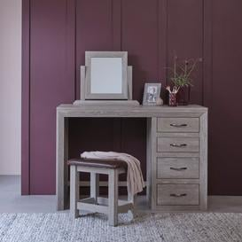 image-Solid Oak with Grey Wash  Dressing Table Mirrors - Dressing Table Mirror - Willow Range - Oak Furnitureland