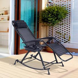 image-Tampa Garden Rocking Chair Sol 72 Outdoor Colour: Black