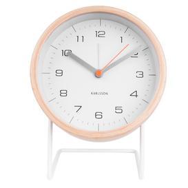 image-Innate Modern & Contemporary Analog Quartz Alarm Tabletop Clock Karlsson Colour: White