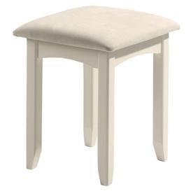 image-Julian Bowen Painted Furniture Cameo White Dressing Stool