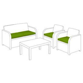 image-Keter Allibert Carolina Garden Sofa Cushion Sol 72 Outdoor Colour: Lime