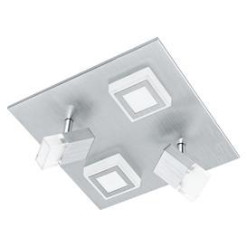 image-Eglo 94512 Masiano LED 2 Spot And 2 Flush Wall/Ceiling Light In Aluminium - L: 270mm