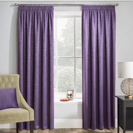 image-Armington Pencil Pleat Room Darkening Thermal Curtains Three Posts Panel Size: 229 W x 137 D cm, Colour: Grape