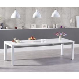 image-Joseph Extending White High Gloss Dining Table