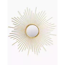 image-M&S Sunburst Metal Round Mirror - 1SIZE - Antique Brass, Antique Brass