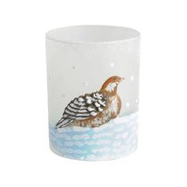 image-Libra Winter Scene with Partridge Candle Holder - Xmas-18