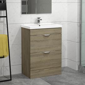 image-Ellerby 610mm Free-standing Vanity Unit Belfry Bathroom Base Finish: Driftwood