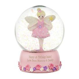 image-Personalised Fairy Snow Globe