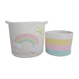 image-Unicorn Dreams Pack of 2 Storage Baskets NA