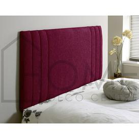 image-Berlin Upholstered Headboard Home deco centre Size: Small Single (2'6), Upholstery: Chenille, Colour: Maroon