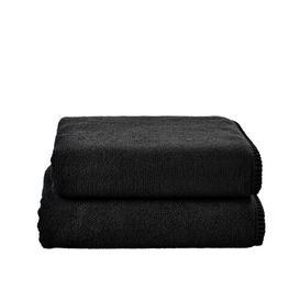 image-Erick 2 Piece Towel Bale August Grove Colour: Black