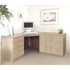 image-Neshev Corner Computer Desk Ebern Designs Colour: Oak