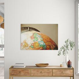 image-Globe World Map Photographic Print on Canvas Big Box Art Size: 70cm H x 100cm W