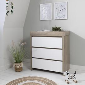 image-Modena Changing Unit Tutti Bambini Colour: White/Oak