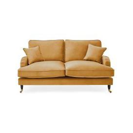 image-Rupert 2 Seater Velvet Sofa Ochre