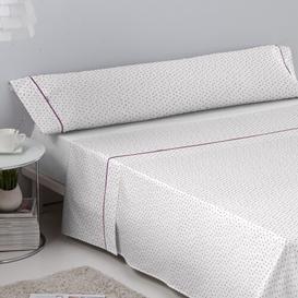 image-Elliana 144 Thread Count 100% Cotton Sheet Set August Grove Size: Single (3'), Colour: Lilac