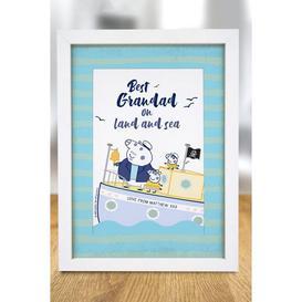 image-Personalised Peppa Pig Best Grandad A4 Framed Print