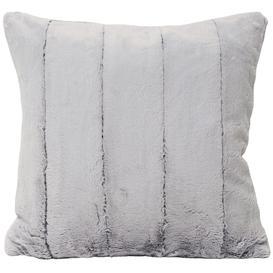 image-Empress Cushion 'Just Like Rabbit Fur' in Grey, Taupe, Cream or Chocolate - Grey