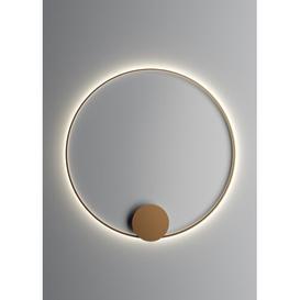 image-Olympic 1-Light LED Flush Mount Fabbian Finish: Bronze, Size: 140cm H x 140cm W x 5cm D, Colour Temperature: 2700K