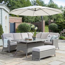 image-2021 Kettler Charlbury Casual Garden Dining Corner Sofa Set