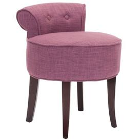 image-Pennsbury Dressing Table Stool Rosalind Wheeler Colour: Rose