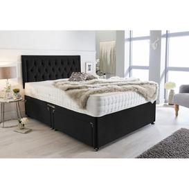 image-Mcleod Plush Velvet Bumper Divan Bed Willa Arlo Interiors Size: Kingsize (5'), Storage Type: 2 Drawers Foot End