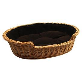 image-Jessamine Dog Bed Basket with Cushion Archie & Oscar Size: Large, Colour: Dark