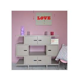 image-Mathy by Bols Kids Dresser in Madaket Design - Mathy Very Light Pink
