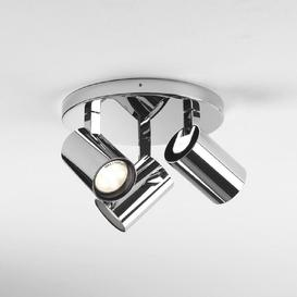 image-Astro 1393005 Aqua Three Light Bathroom Ceiling Plate Spotlight In Polished Chrome