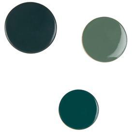 image-Green mango wood coat hooks (x3)