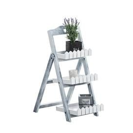 image-Chebeague Plant Stand Beachcrest Home Colour: Grey