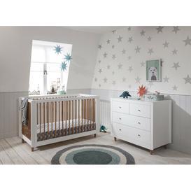 image-Siena Cot Bed 2-Piece Nursery Furniture Set Tutti Bambini