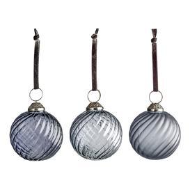 image-Mercier Small Cerulean Swirl Baubles, Set of Six