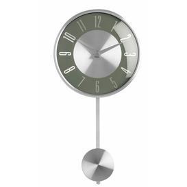image-Britt Pendulum 18cm Wall Clock Metro Lane Colour: Grey