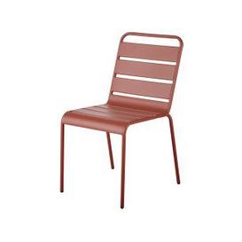 image-Terracotta Metal Garden Chair Batignolles