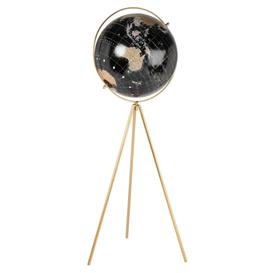 image-World Map Globe with Gold Metal Tripod Stand 64cm