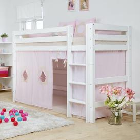 image-European Single Mid Sleeper Bed Hoppekids Finish: White