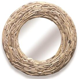 image-Wiltshire Driftwood Furniture Round Mirror