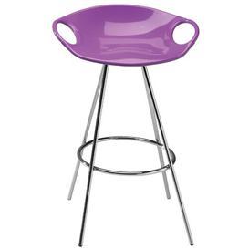 image-Barry Bar Stool Wade Logan Colour (Seat): Violet