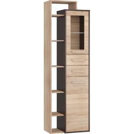 image-Sanuary Standard Welsh Dresser Mercury Row Colour: Dark Oak/Oak Sonoma