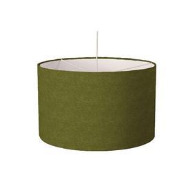 image-Luxury Velvet Drum Lamp Shade Ebern Designs Colour: Green, Size: 21cm H x 30cm W x 30cm D