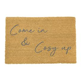 image-Artsy Doormats - Come In & Cosy Up Door Mat - Grey
